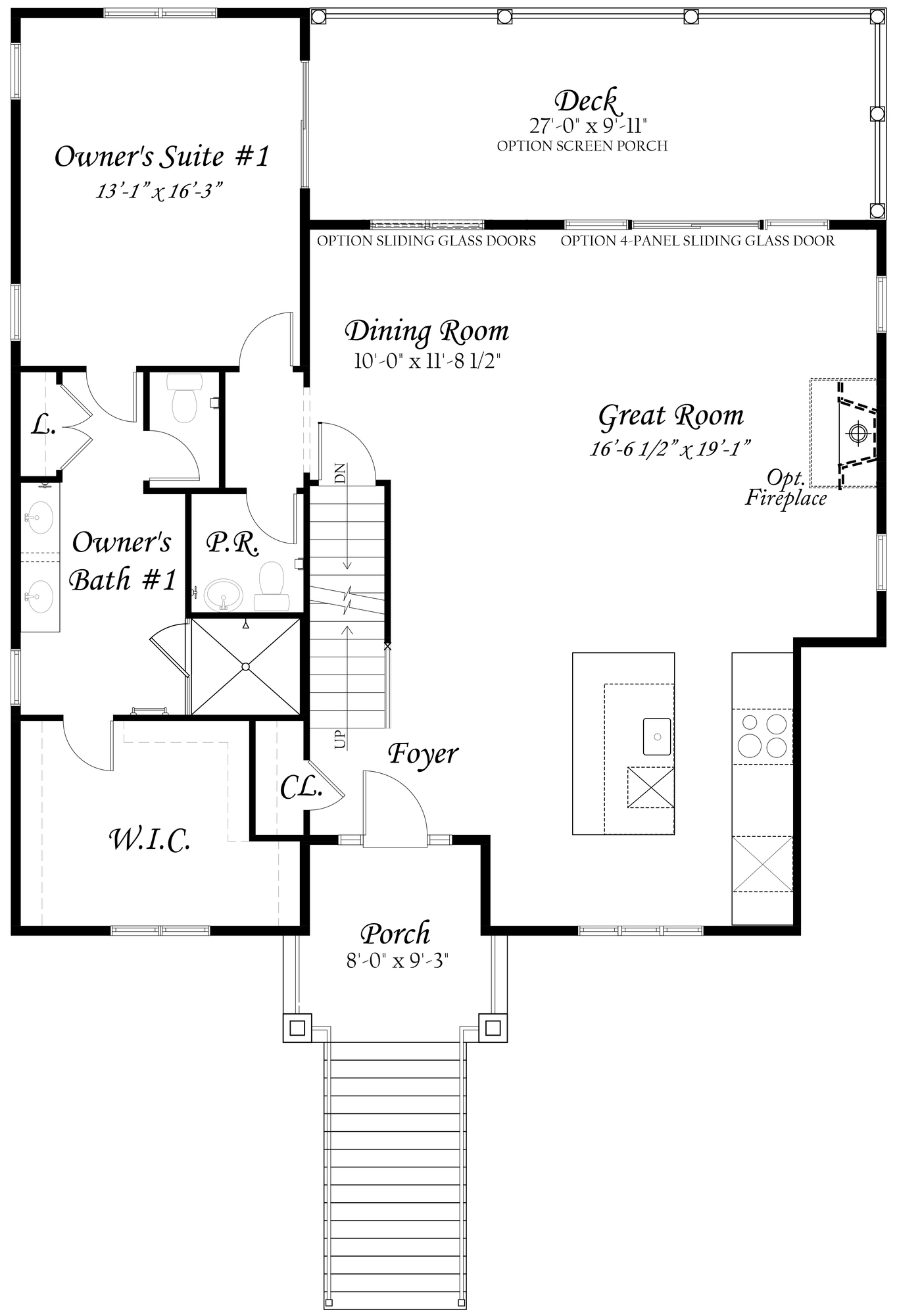 Bayberry - Master - Floor Plan - Main Level - Full