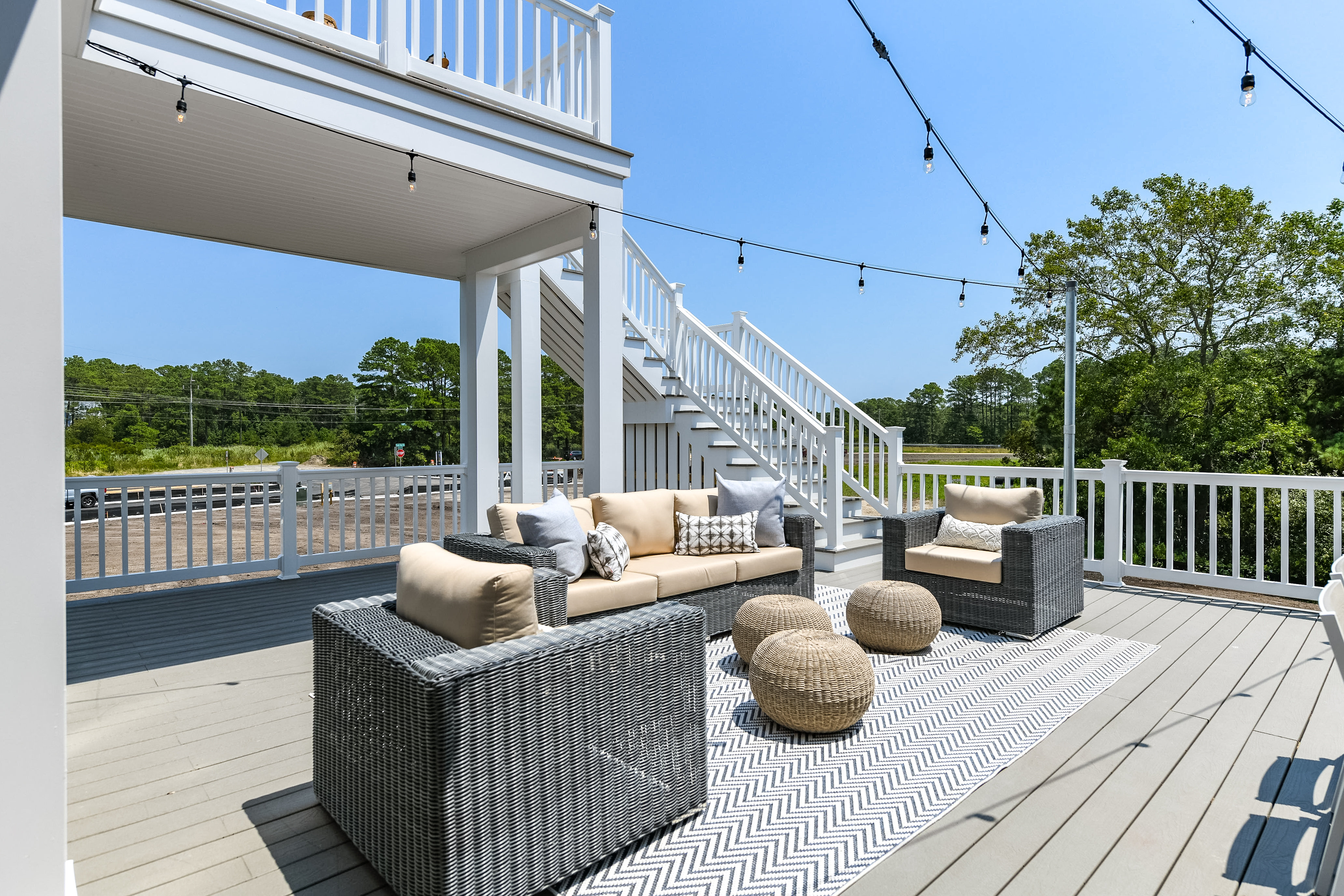 View of Deck,Furniture and Stairs to Upper Level Decks