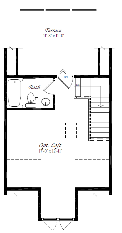 Optional Loft and Terrace