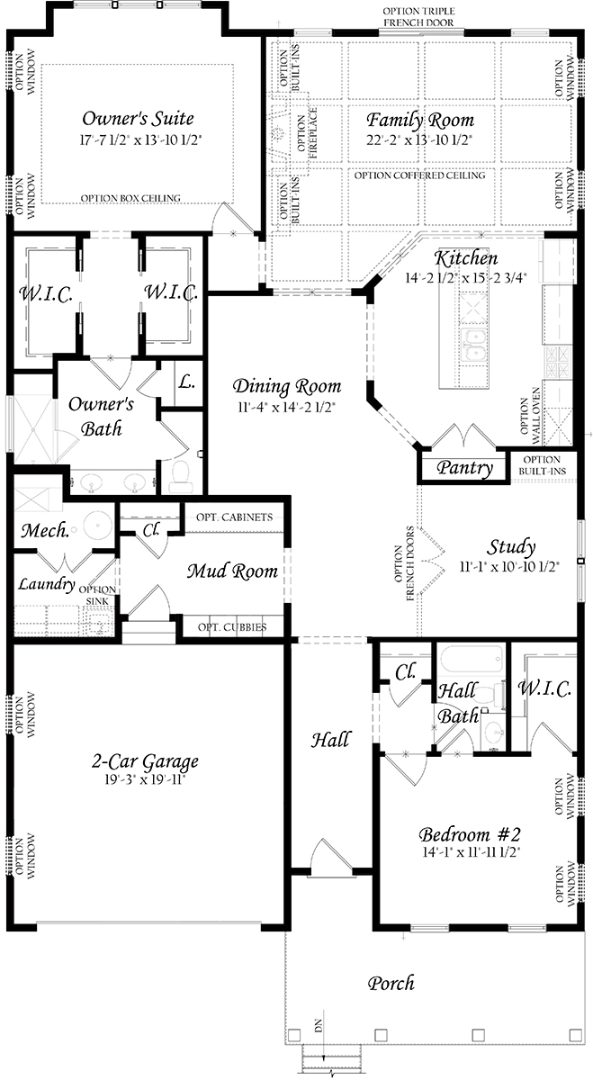 4-20-18 Creekside 3x0 - Master - Floor Plan - Main Level