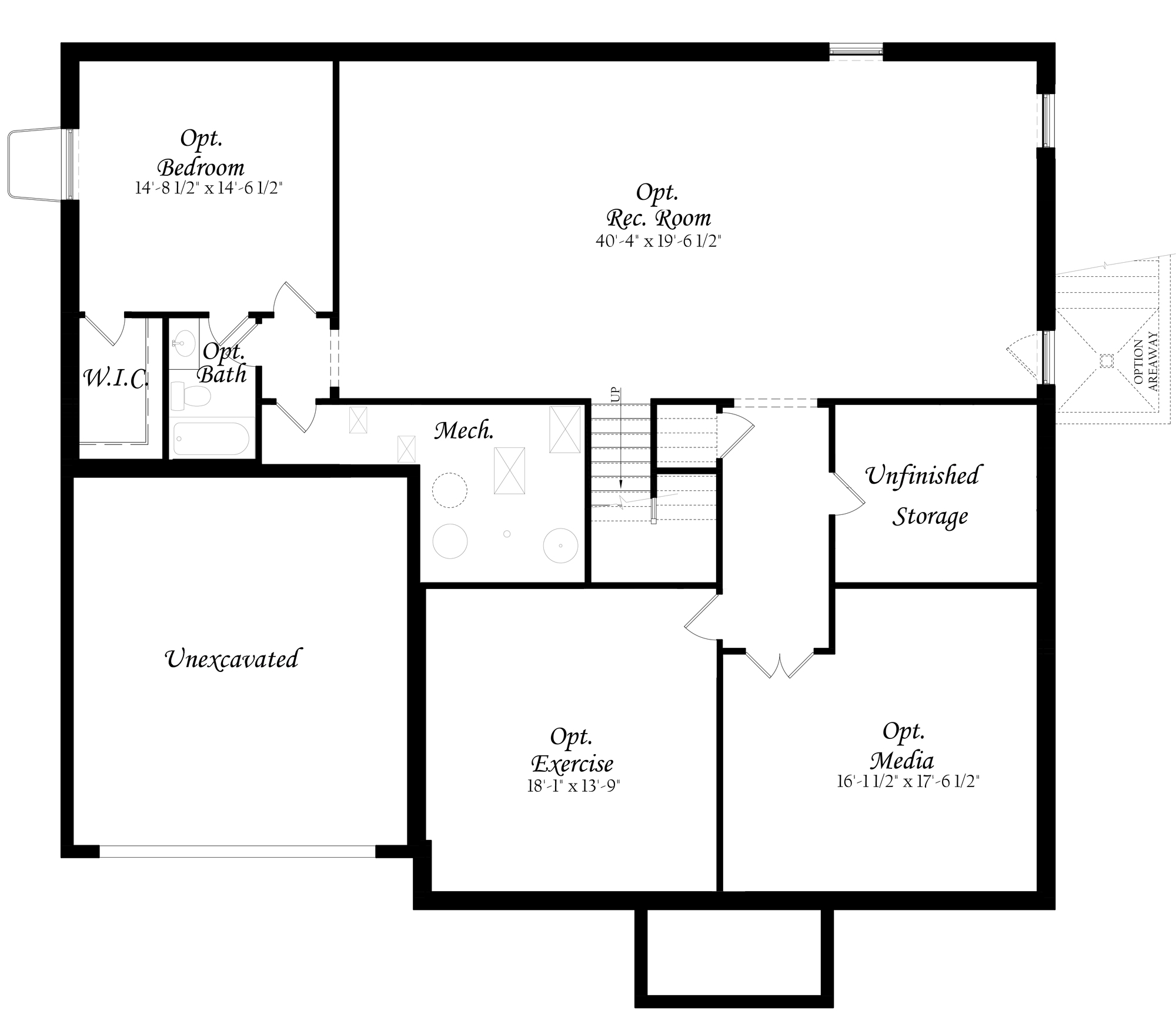 7-6-18 Chapman 3x0 - Master - Floor Plan - Elevation A - Lower Level