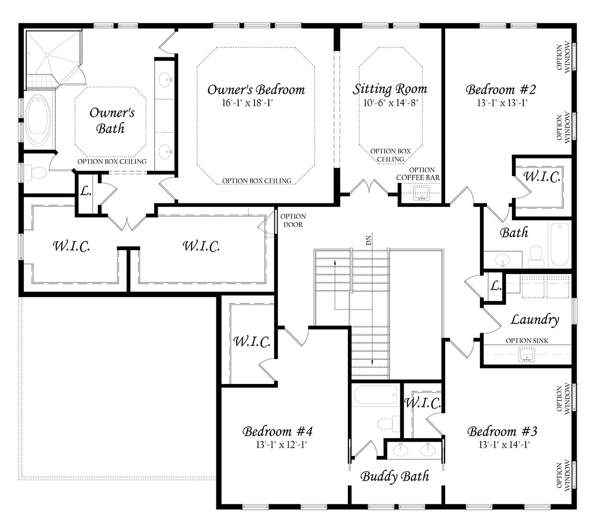 April 1218 Chapman 3x0 - Master - Floor Plan - Elevation A