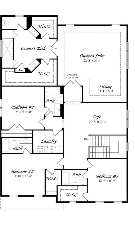 Carlyle-3x0---Master---Floor-Plan---Elev-A---Upper-Level