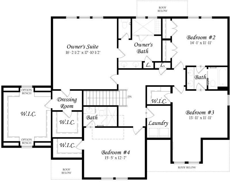 Colvin-3x0---Master---Floor-Plan---Elevation-A---Upper-Level