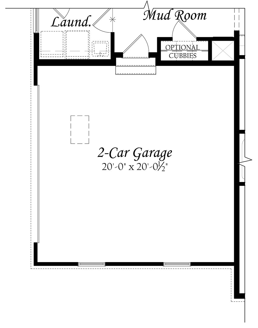 Glendale - 3x0 - Master Floorplan - Elev A - Opt side load garage 91219