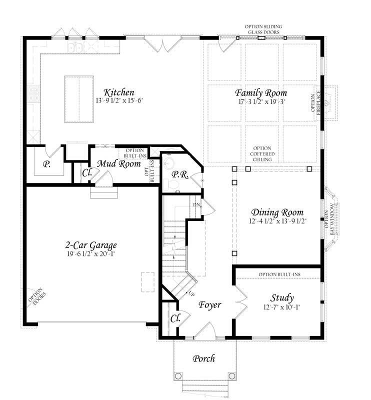Main Floor Master Home Plan: Keene-Mill-3-0---Master---Floor-Plan---Elev-A---Main-Level