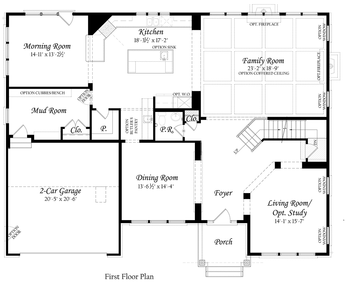 Oxford 3x0 - Master - Floor Plan - Elev A - Main Level 12-13-19