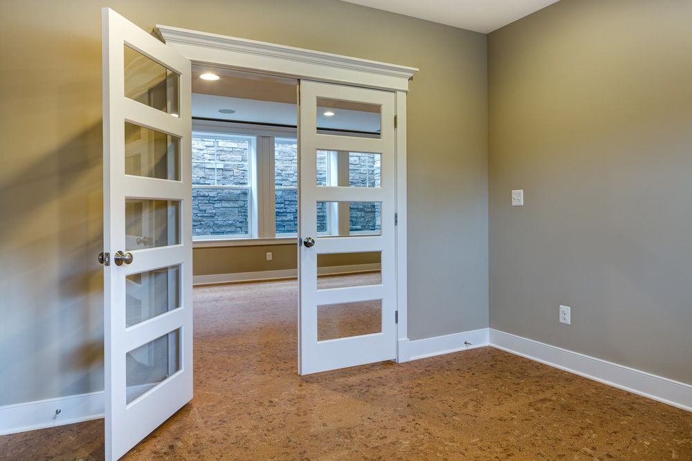 Study With Five Pane French Doors Lower Level
