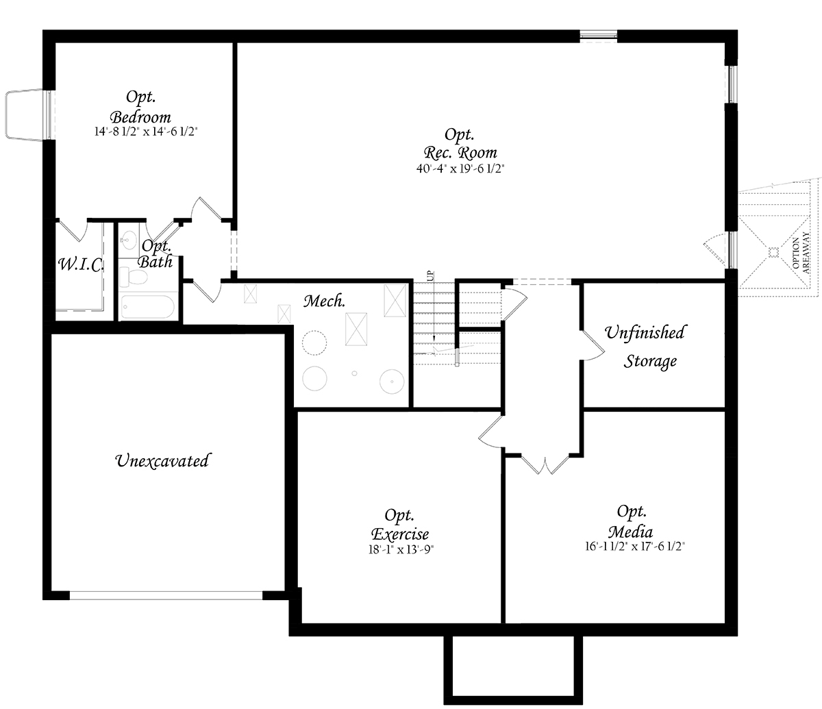 Woodson Chapman 3x0 - Master - Floor Plan - Elevation A - Lower Level