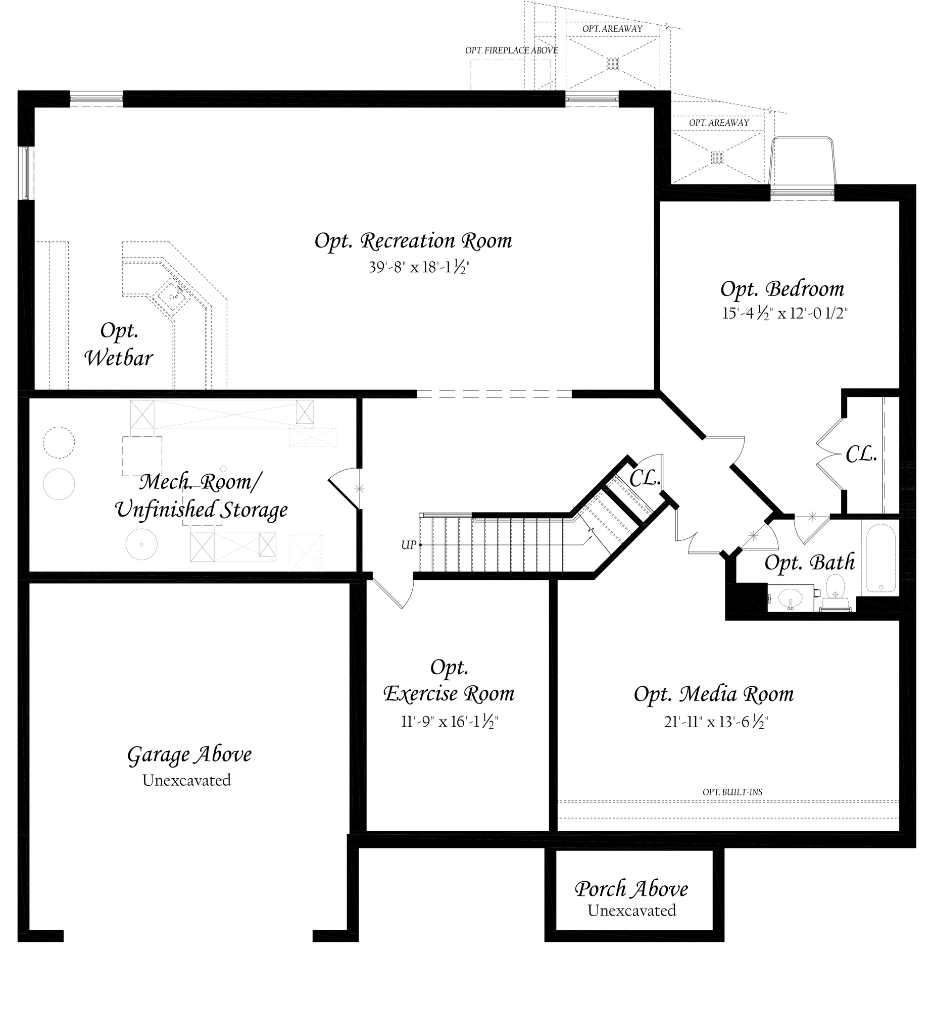 6-22-18 Willow Grove II 3x0 - Master - Floor Plan - Elev A - Lower Level