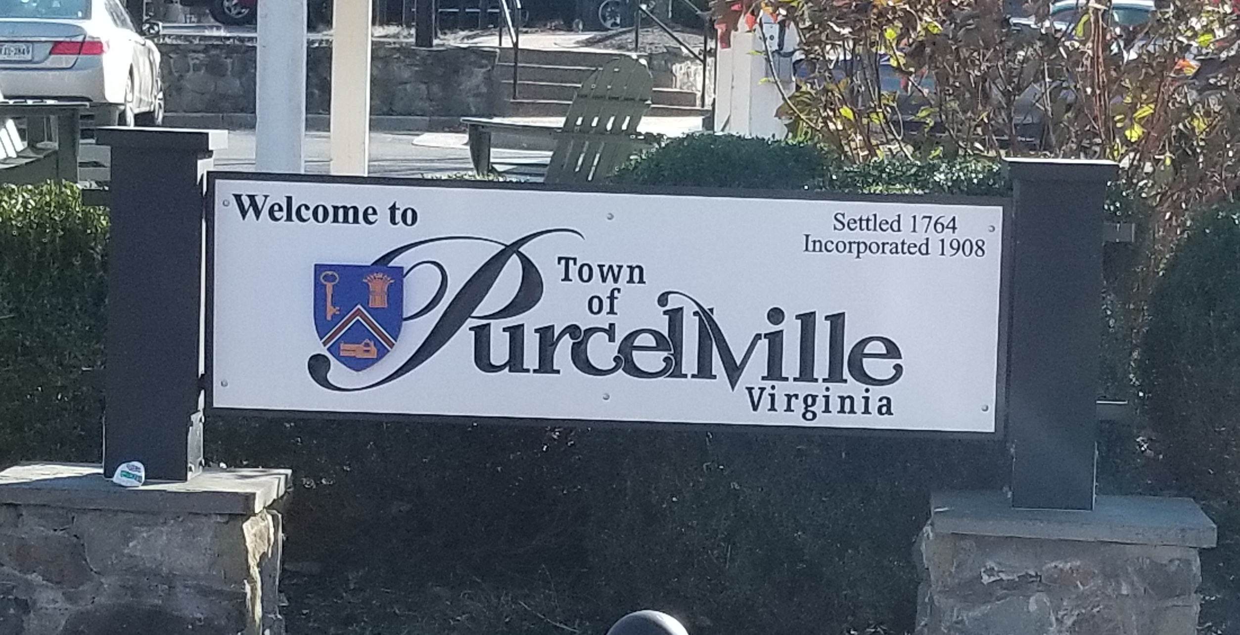 Purcellville Town Sign