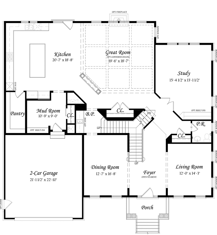 Willow Grove II 3x0 - Master - Floor Plan - Elev A - Main Level 7292020