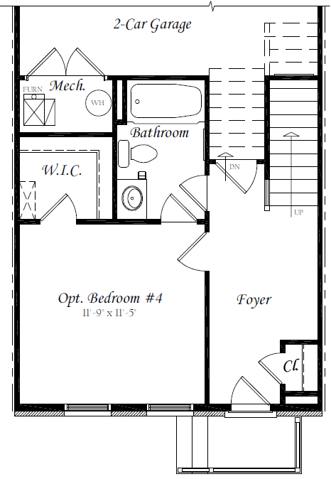 Brewers Ground Floor - Optional Bedroom 4