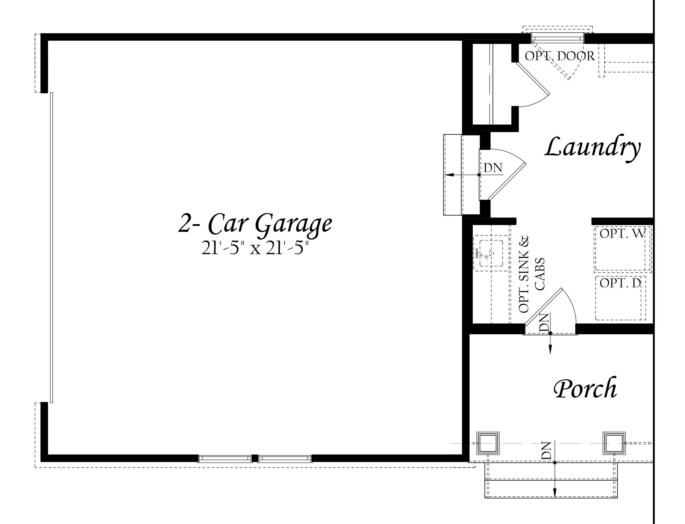 Aquinnah 3x0 - Floor Plan - Master - opt 2 car sideload garage