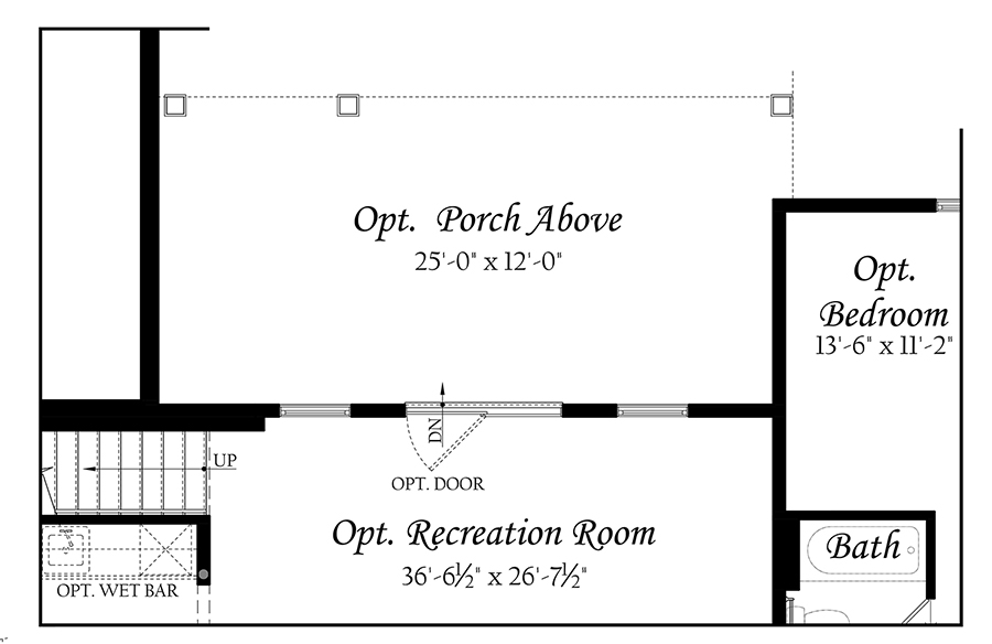 WEB Greenwood 3x0 - Floor Plan - 11242020 - Lower Level Opt Covered Porch Walkout
