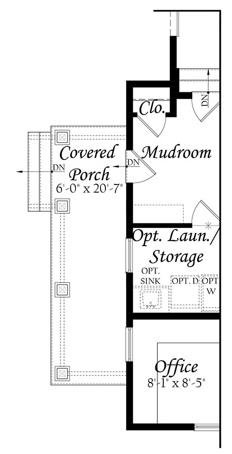WEB Greenwood 3x0 - Floor Plan - Master - Opt Main Level Left Side Covered Porch A