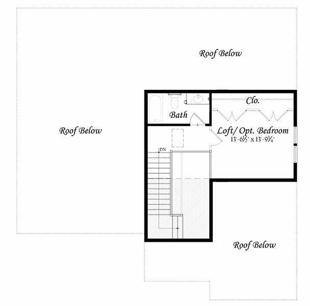 Addison II 3-0 Opt. Third Floor Loft Plan
