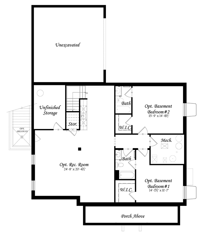 Web Spinnaker 3x0 - Floor Plan - Master - Lower Level Finished a