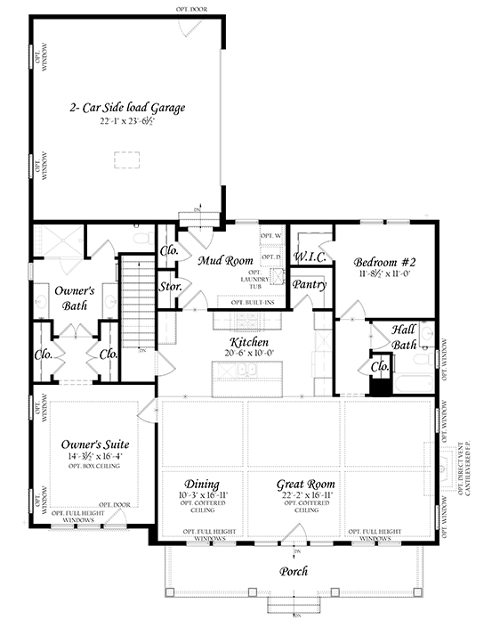 Web Spinnaker 3x0 - Floor Plan - Master - Main Level Plain