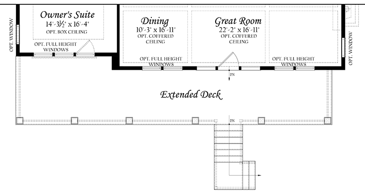 Web Spinnaker 3x0 - Floor Plan - Master - Main Level ext deck and opt walkout