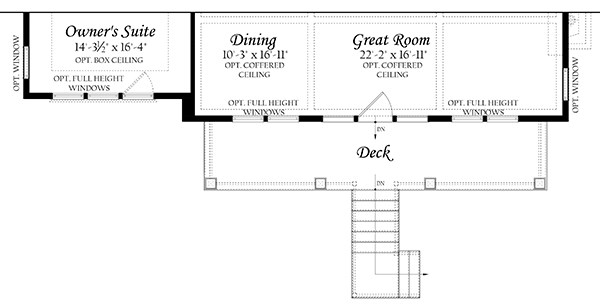 Web Spinnaker 3x0 - Floor Plan - Master - Main Level regular deck and opt walkout